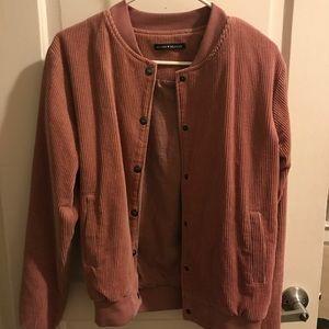 Brandy Melville pink corduroy jacket